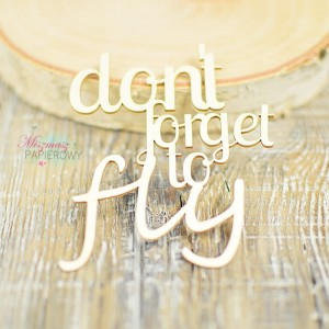"Napis ""don't forget to fly"""