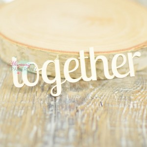 "Napis ""together"" 2"